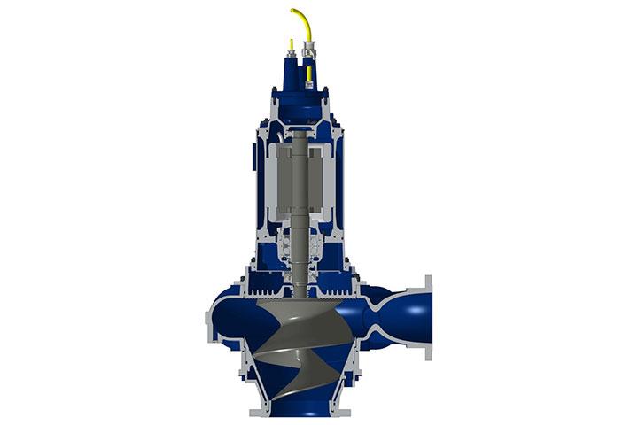Hidrostal submersible centrifugal screw pump bbc pump for Electric motor repair indianapolis