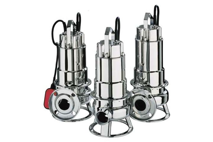 Ebara DWU stainless steel submersible solids-handling pump