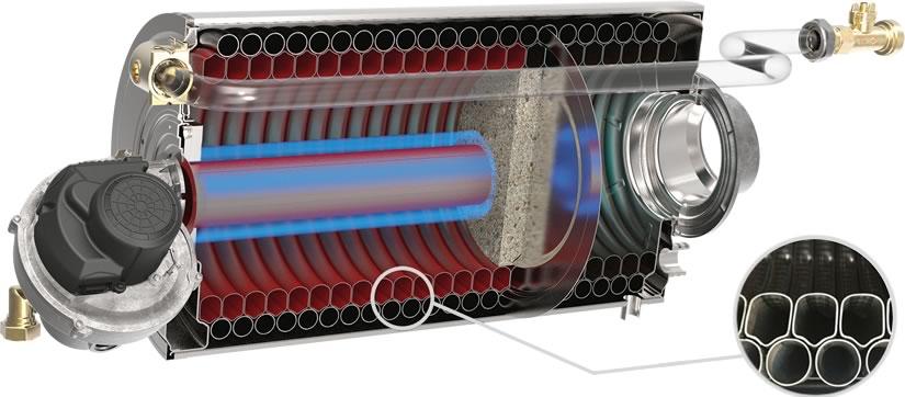 Riello Array Boiler Watertube Interior