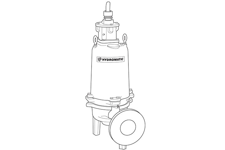 Hydromatic S4HRC submersible solids-handling vortex pump