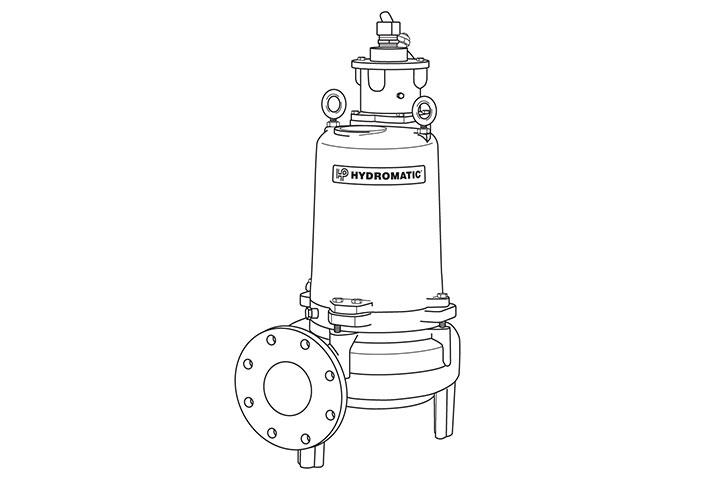 Hydromatic S4MRC submersible solids-handling vortex pump