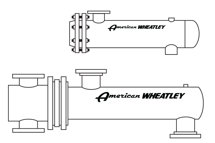 American Wheatley Shell and Tube Heat Exchanger